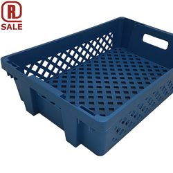 BREAD BASKET 40x60 27L Blue RAL5015 PP-plastic Perforated base and sides Nesting height 44mm Internal 370x565x137mm