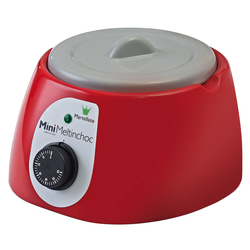 CHOCOLATE MELTER  1,8L Red 1~230VAC Removable bowl anodized aluminium ø185x107mm with lid