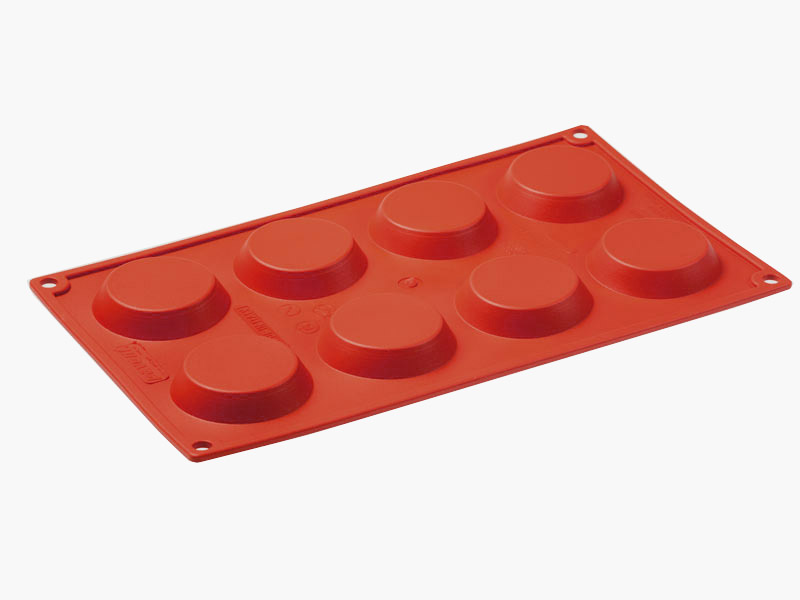 SILICONE BAKING MOULD PAN GN1/3 ROUND BABA  97ml (8x ø55x60mm) Silikongummi