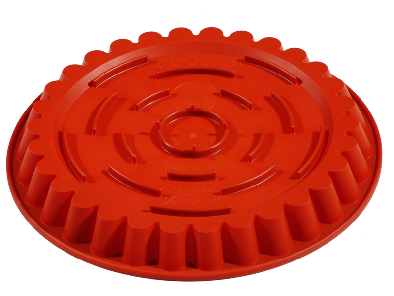 SILICONE BAKING MOULD PAN ROUND FLUTED ø260x30mm 1,35L {Conforms with: EU 1935/2004, EU 2023/2006}