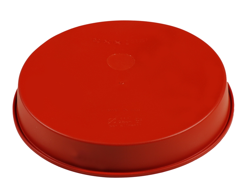SILICONE BAKING MOULD PAN ROUND ø220x40mm 1,40L   {Conforms with: EU 1935/2004, EU 2023/2006}