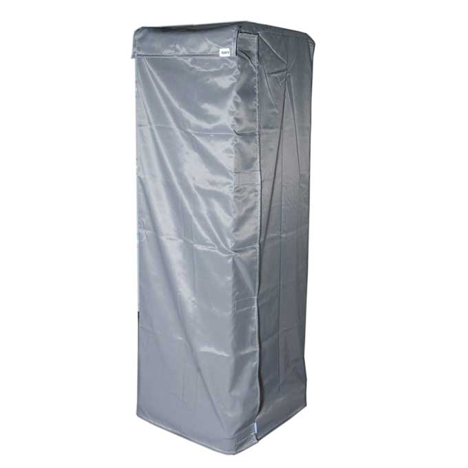 RACK DUST COVER 45x60 46x61 1670mm Beaver nylon Grey Net on top 400x350mm With C4 document pocket Door with Velcro locking