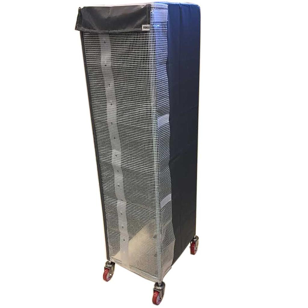 RACK DUST COVER 47x63 1650mm Beaver nylon Grey Transparent door with Velcro locking {Conforms with: EU 1935/2004, EU 2023/2006}