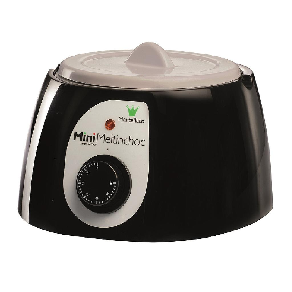 CHOCOLATE MELTER  1,8L BLACK 1~230VAC Removable bowl anodized aluminium ø185x107mm with lid {Conforms with: EU 1935/2004, EU 2023/2006}