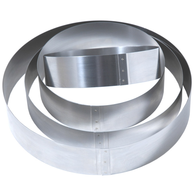 CAKE MOUSSE RING ø200x40mm Stainless steel {Conforms with: EU 1935/2004, EU 2023/2006, EN 1.4310}