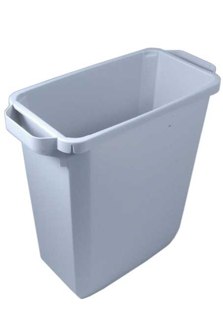 BIN  60L RECTANGULAR Grey Plastic {Conforms with: EU 1935/2004, EU 2023/2006, EU 10/2011}